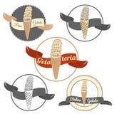 Pisa ice cream logo set isolated on white background. royalty free illustration