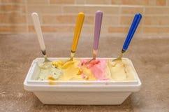 Italian gelato ice-cream. A bowl of italian crafted Gelato ( or icecream Royalty Free Stock Photo