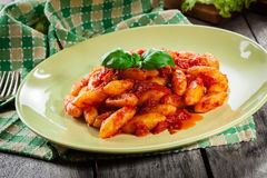 Italian gnocchi with tomato sauce Royalty Free Stock Photography