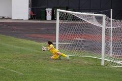 Penalty goalkeeper royalty free stock photos