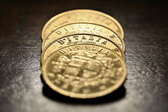 Italian gold coins Royalty Free Stock Photography