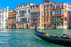 Italian gondola in the Grand Canal Stock Image