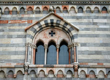 Italian Gothic Window in Como, Italy Royalty Free Stock Photo