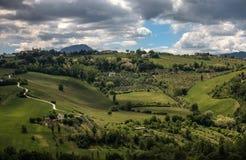 Italian green hills Royalty Free Stock Photos