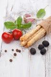 Italian grissini bread sticks Royalty Free Stock Photography