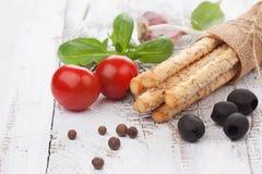 Italian grissini bread sticks Stock Image