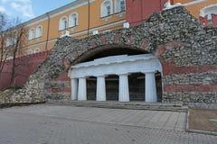 Italian grotto in Alexander's garden. Moscow Royalty Free Stock Photos