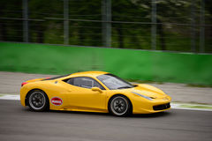 Italian GT Cup Ferrari 458 Italia at Monza. Duell Race Team is testing his Ferrari 458 Italia that will compete in the Italian GT Cup season 2016 Royalty Free Stock Photography