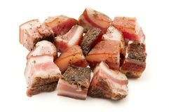Italian guanciale Stock Photos