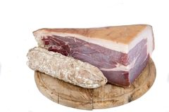 Italian cured ham Royalty Free Stock Images