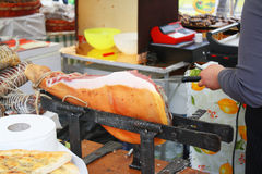 Italian ham prosciutto Royalty Free Stock Photo