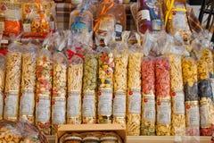 Italian handmade uncooked pasta fresca royalty free stock photography