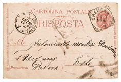 Italian handwritten postcard letter Royalty Free Stock Photography