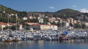 Italian harbor stock video