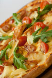 Italian healthy chicken pizza Royalty Free Stock Images