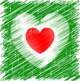 Italian Heart. H for the 150Th celebration Royalty Free Stock Image