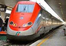 Italian high speed train Stock Photo