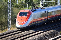 Italian high speed train passing by Royalty Free Stock Photography