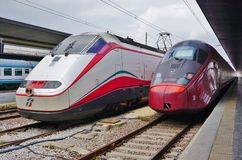 An Italian high speed train at the Venice station Royalty Free Stock Photos