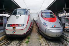 An Italian high speed train at the Venice station Stock Image