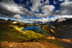 Italian highlands lake Stock Photos