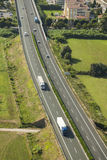 Italian Highway, aerial view Stock Photos