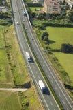 Italian Highway, aerial view Stock Photos