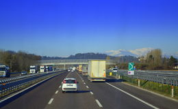 Italian highway Royalty Free Stock Photography