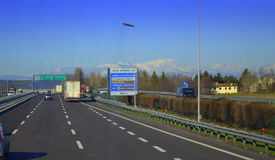 Italian highway Royalty Free Stock Photo