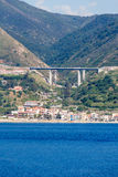 Italian Highway in Messina Straight Stock Images