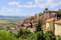 Italian hill town Stock Photo
