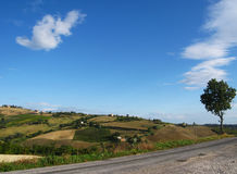Italian hills Royalty Free Stock Photos