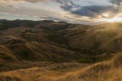 Italian hills at sunset Stock Photos