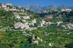 Italian hillside village Stock Photo
