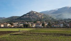 Italian hilltop town Royalty Free Stock Photos