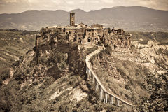 Italian Hilltown Civita di Bagnoregio Royalty Free Stock Image
