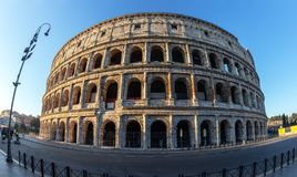 Italian historical monument of the Colosseum, in Rome. Italian historical monument of the Colosseum, in Rome stock photo