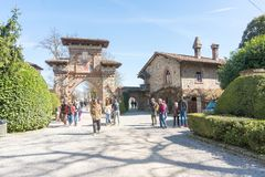 Italian historical village Stock Photos