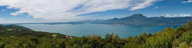 Italian holiday. Panoramic view of the beautifull garda lake Royalty Free Stock Photography