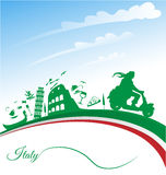 Italian holidays background royalty free illustration