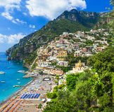 Italian holidays - beautiful Positano stock photo