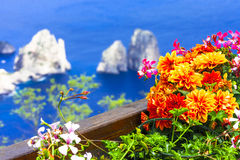 Italian holidays - Capri island Stock Photography