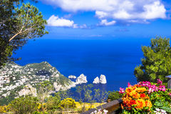 Italian holidays - Capri island Stock Photos