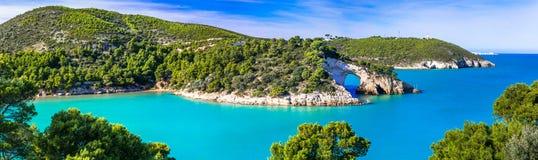 Italian holidays in Puglia - Natural park Gargano with beautiful Royalty Free Stock Photography