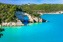 Italian holidays in Puglia - Natural park Gargano with beautiful Royalty Free Stock Images