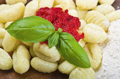 Italian home made gnocchi Stock Photos