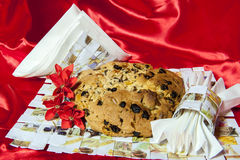 Italian home made panettone Stock Photos