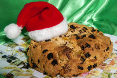 Italian home made panettone Stock Photo
