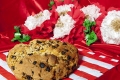 Italian home made panettone Royalty Free Stock Image