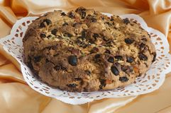 Italian home made panettone royalty free stock images